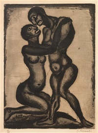 noces (from pere ubu) by georges rouault