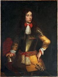 portrait d'homme au gilet jaune sous une cuirasse by flemish school (17)