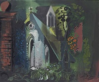skelton church, yorkshire by john piper