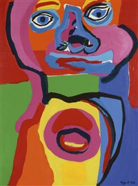 indian head by karel appel