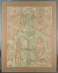 hombre en blanco by rufino tamayo