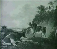 cattle in an extensive landscape by charles towne the younger