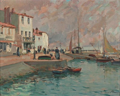 le port de lile dyeu by paul emile lecomte