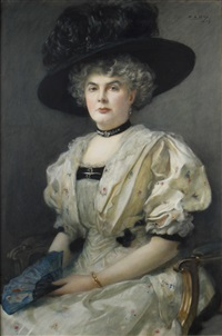 portrait of isabel gillerta kirkwood by peter alexander hay