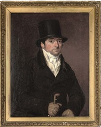 portrait of frank buckle in a brown coat and white stock by thomas arrowsmith