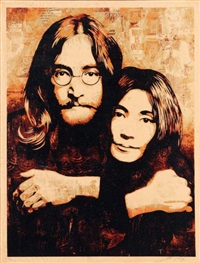 john and yoko by shepard fairey