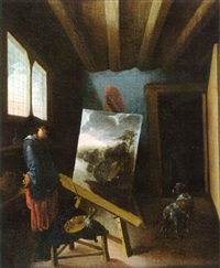 l'atelier du peintre by jacob van spreeuwen