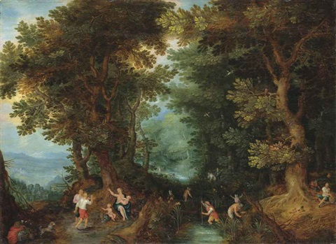 latona turning the lycians into frogs by jan brueghel the younger