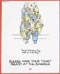 please have your ticket ready by fougasse (cyril kenneth bird)