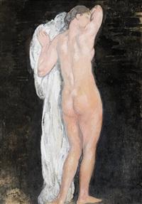 femme nue de dos by michel simonidy