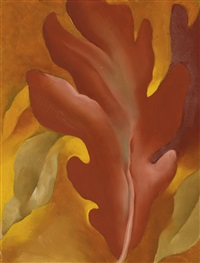 oak leaves by georgia o'keeffe