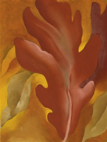 oak leaves by georgia okeeffe