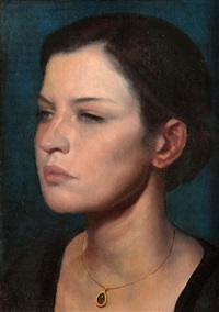 girl with a necklace by ken hamilton