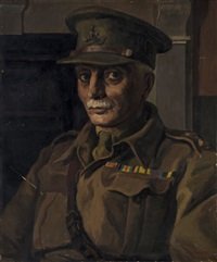 portrait of captain john reid and portrait of margaret reid (2 works) by raymond mason