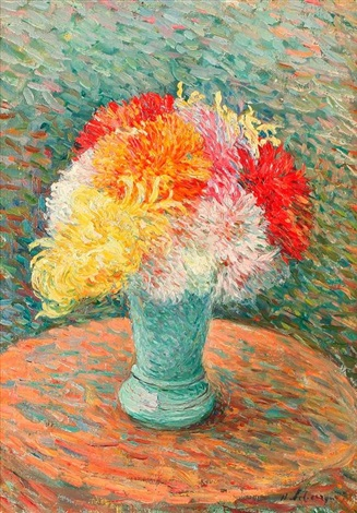 vase de dahlias by henri lebasque