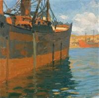 port scene by ottorino bicchi