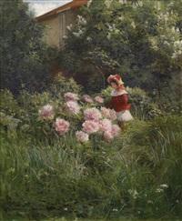 dívka v zahradě by henri biva