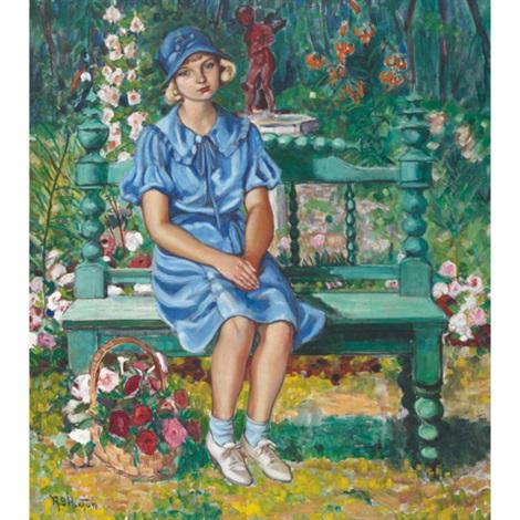 girl in the garden by randolph stanley hewton