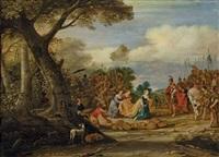 david et abigail by hans jordaens iii