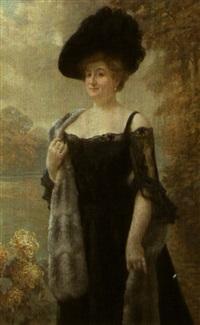 portrait de madame bernard by lionel peraux