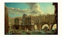 la joute des mariniers entre le pont notre-dame et le pont au change by jean baptiste nicolas raguenet