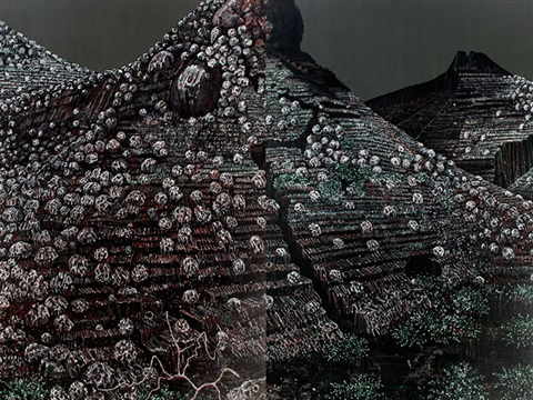 substances of earth image i diptych by rajan krishnan