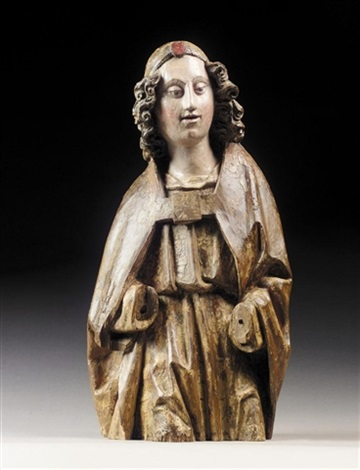 bust of an angel by hispano flemish school 15