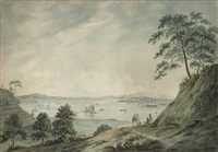 view of the french island looking up the canton river by thomas daniell