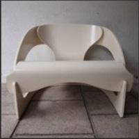 fauteuil, modèle 4801 by joe colombo