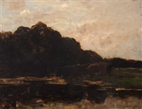cows by the edge of a ditch by willem maris