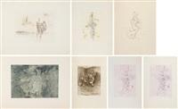 la chauve-souris; entre deux eaux; les maries; violetta; violetta; sans titre; anatomie de l'image (set of prints) by hans bellmer
