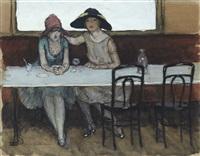 femmes au café by charles-auguste edelmann