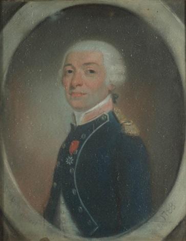 portrait de joseph antoine de gallier  by jean pierre grasson