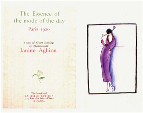 the essence of the mode of the day bk by artist w11 works by janine aghion