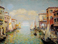 venice canal by rudolf andree