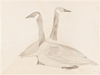 untitled (two canada geese) by mark