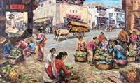 market scene by sujatno koempoel