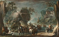 soldiers crossing a river by francesco simonini
