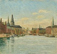 canal view from copenhagen by johan rohde