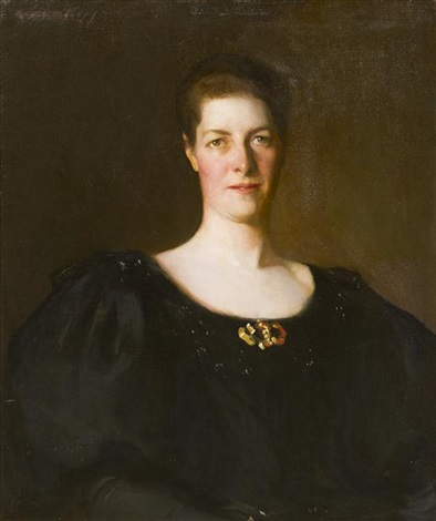 portrait of amy gordon grant by frank weston benson
