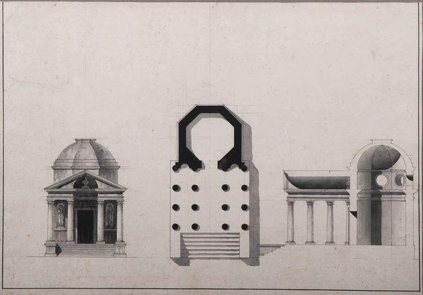 un temple octogonal design by giacomo quarenghi