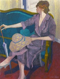 femme au canape (woman on a sofa) by jean pesce