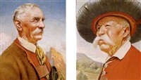 shepherd in the hills (+ the old tyrolian; pair) by franz leitgeb
