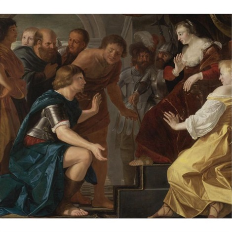 the departure of aeneas from dido queen of carthage by christian van couwenbergh