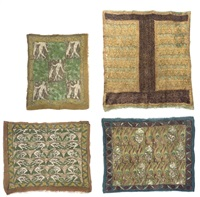 textile panel (+ 3 others, irgr; 4 works) by raymond duncan