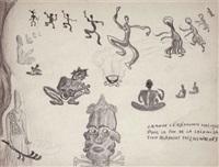 grande cérémonie magique pour la fin de la colonisation blanche chez les wolofs (+ sans titre, verso) by rene daumal
