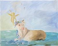 swimming in the atlantic at dawn by karen kilimnik