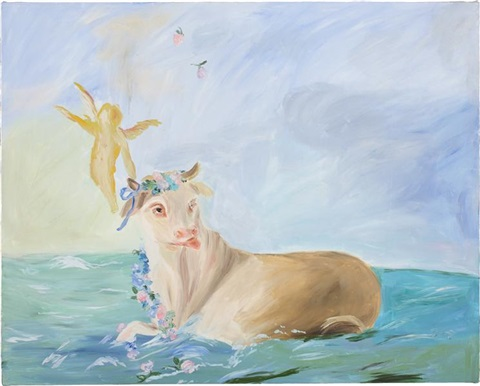 swimming in the atlantic at dawn by karen kilimnik