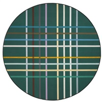 circum-grid green by kenneth noland