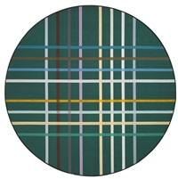 circum-grid green by kenneth noland